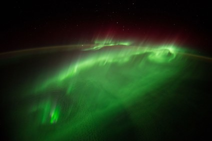 aurura australis ISS Nasa