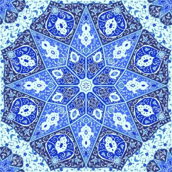 Islamic floral pattern in Victorian style.Ornamental for Card. Use for posters, covers, flyers, postcards, banner designs, travel. India, Arabic Dubai turkish Islam